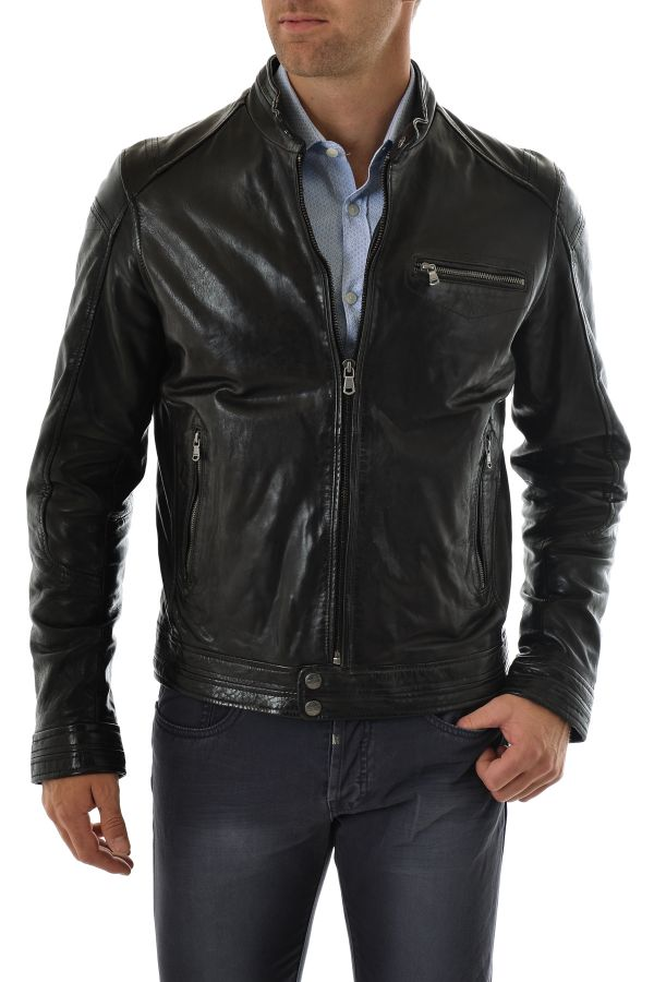 Blouson Homme Daytona HUGO SHEEP TIGER BLACK