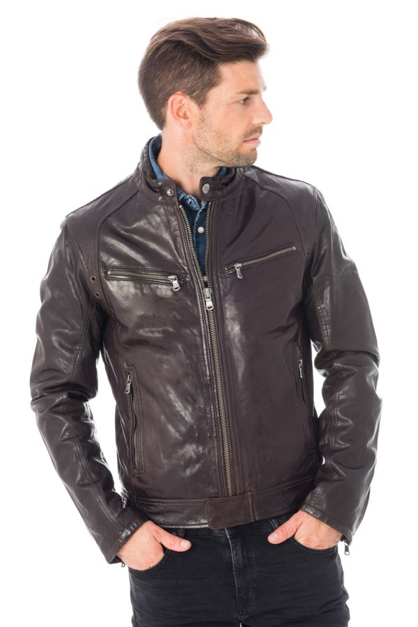 Blouson Homme Daytona DUSTIN SHEEP TIGER REDISH BROWN