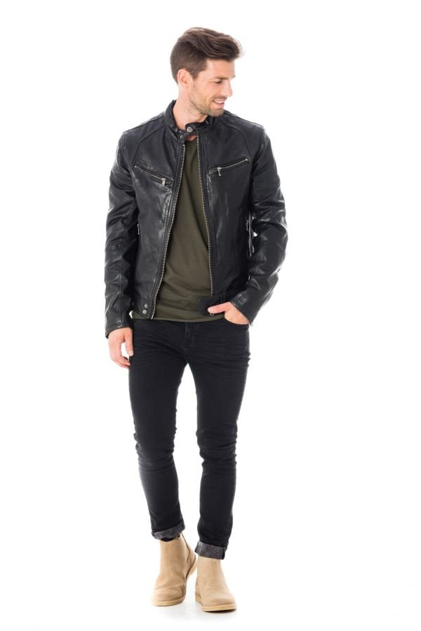 Blouson Homme Daytona DUSTIN SHEEP TIGER BLACK