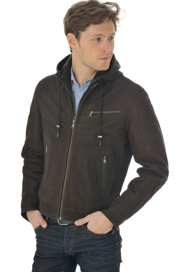 Blouson Homme Daytona GRAY HOOD COW MADISON BROWN