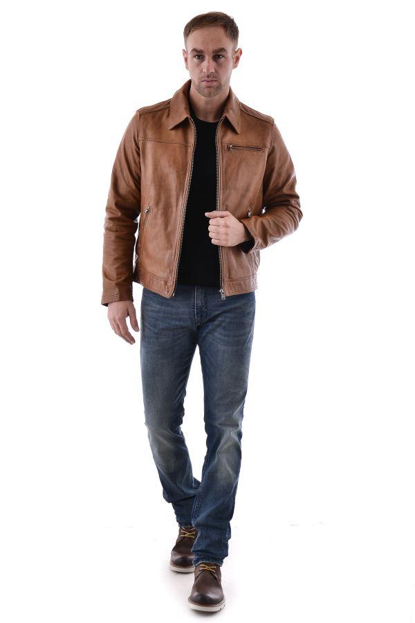 Blouson Homme Daytona MAJOR SHEEP TIGER COGNAC