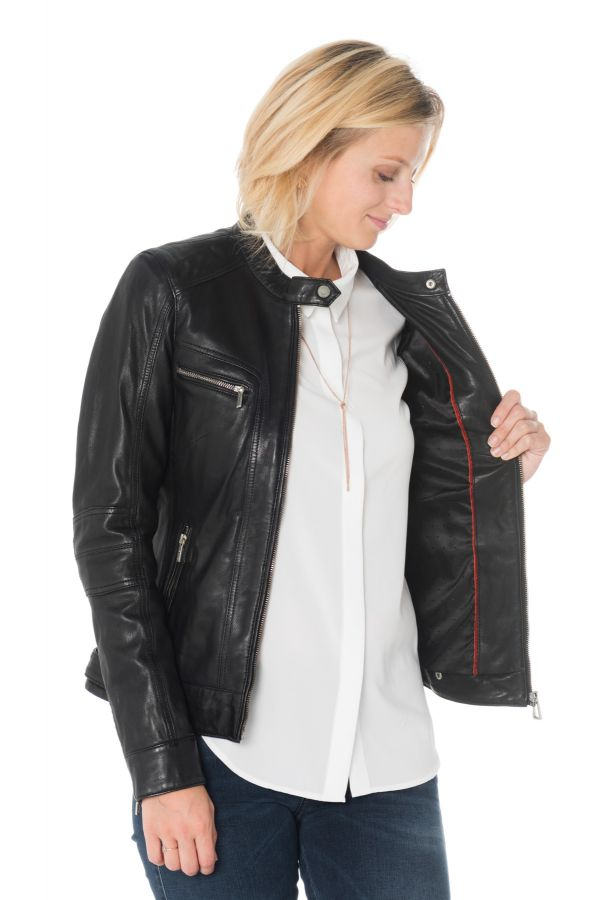 Blouson Femme rose garden SILENE SHEEP AOSTA BLACK