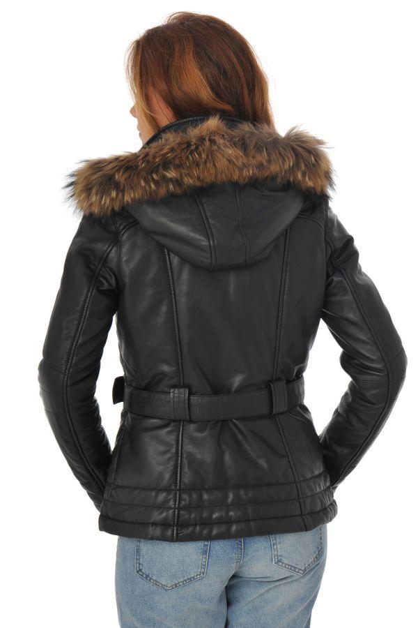 Blouson Femme Daytona ISOBEL HOOD SHEEP VENNE BLACK