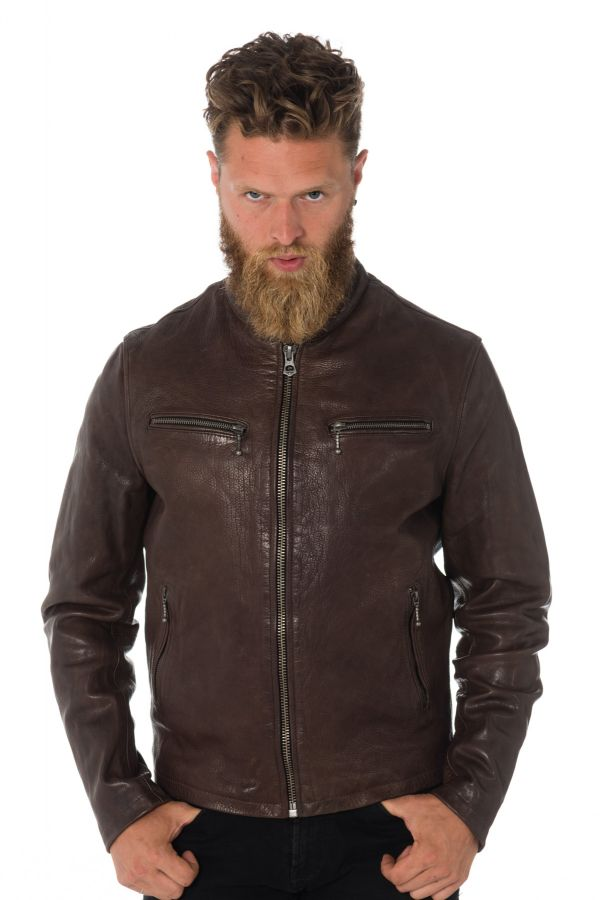 Blouson Homme Daytona TRITON COW VEG  DARK BROWN