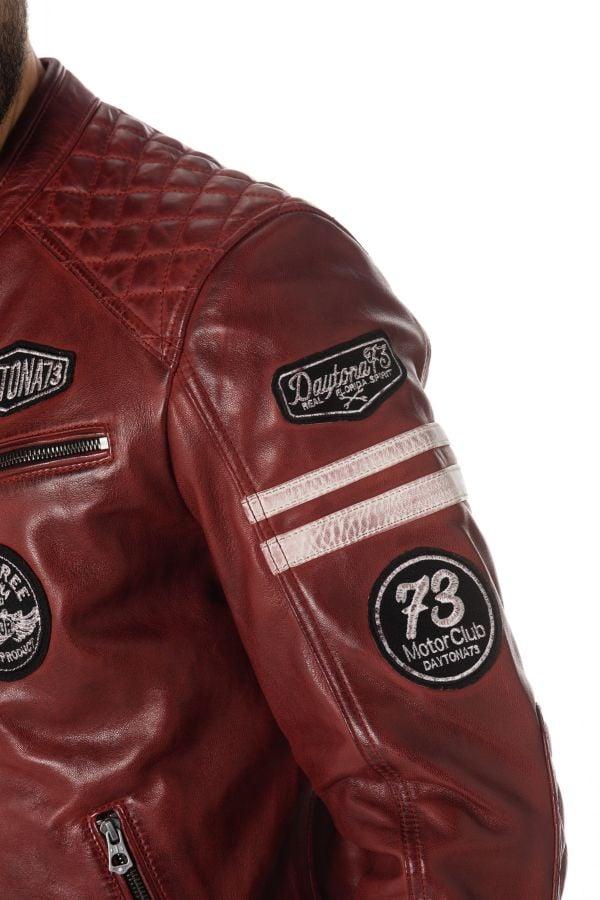 Blouson Homme Daytona WALKER SHEEP ATLAS RED