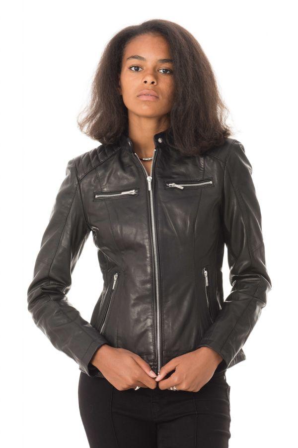 Blouson Femme Daytona JODY LAMB CASTEL BLACK