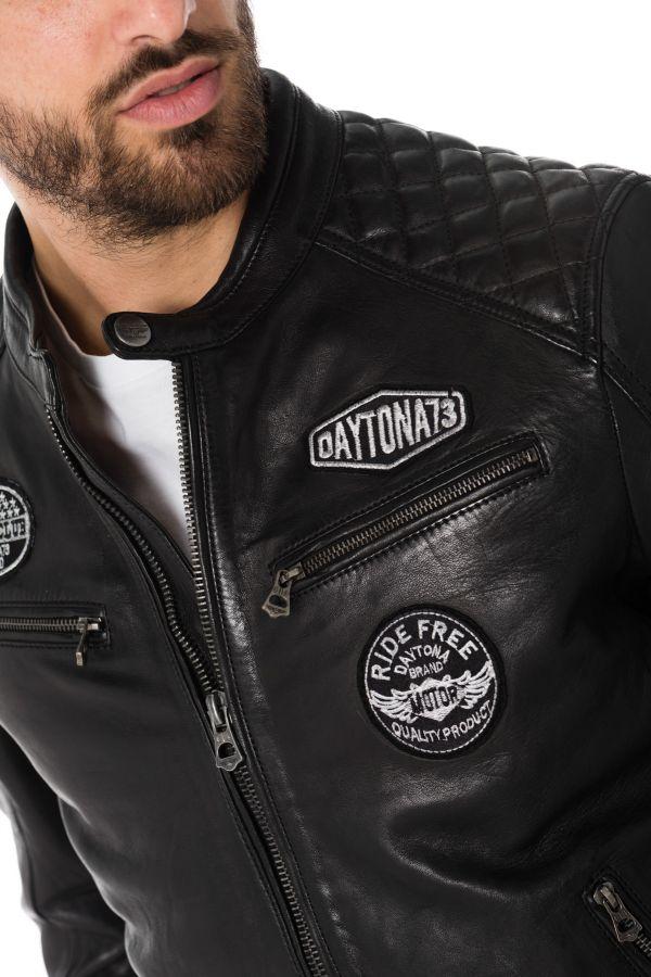 Blouson Homme Daytona WALKER SHEEP ATLAS BLACK