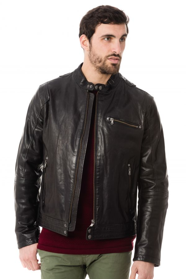 Blouson Homme Daytona ROCHESTER SHEEP TIGER BLACK ZZ