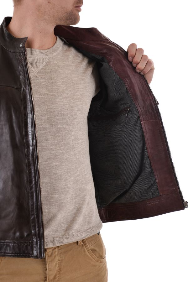 Blouson Homme Daytona LEWIS SHEEP TIGER REDI BROWN/BORDEAUX