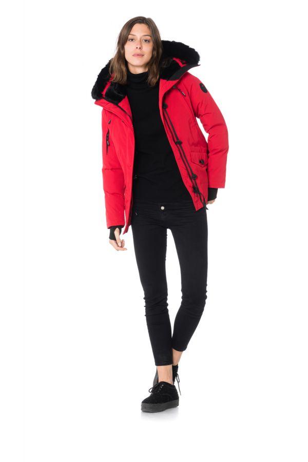 Blouson Femme Helvetica ONTARIO WOMEN DARK RED