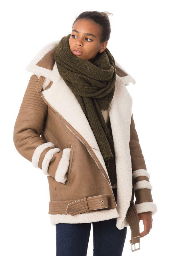 Site officiel meilleur service vente chaude Veste Femme Intuition BOBBY CAMEL