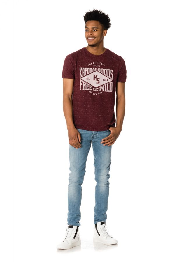 Tee Shirt Homme Kaporal JUNK WINE MELANGED H17