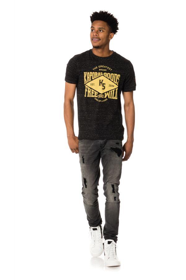 Tee Shirt Homme Kaporal JUNK DARK GREY MELANGED H17
