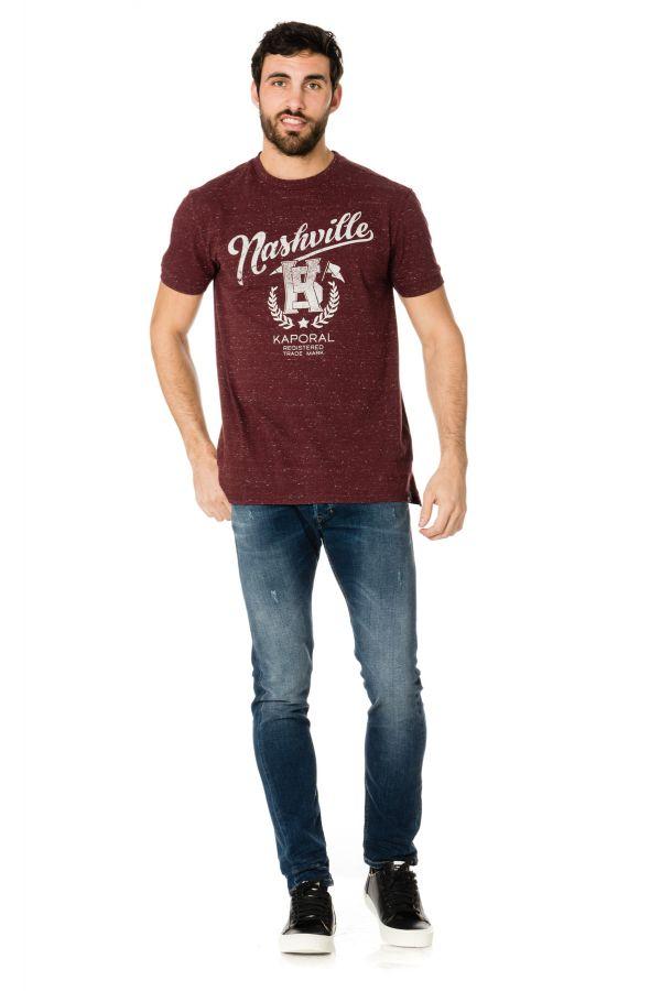 Tee Shirt Homme Kaporal JOSH WINE MELANGED H17