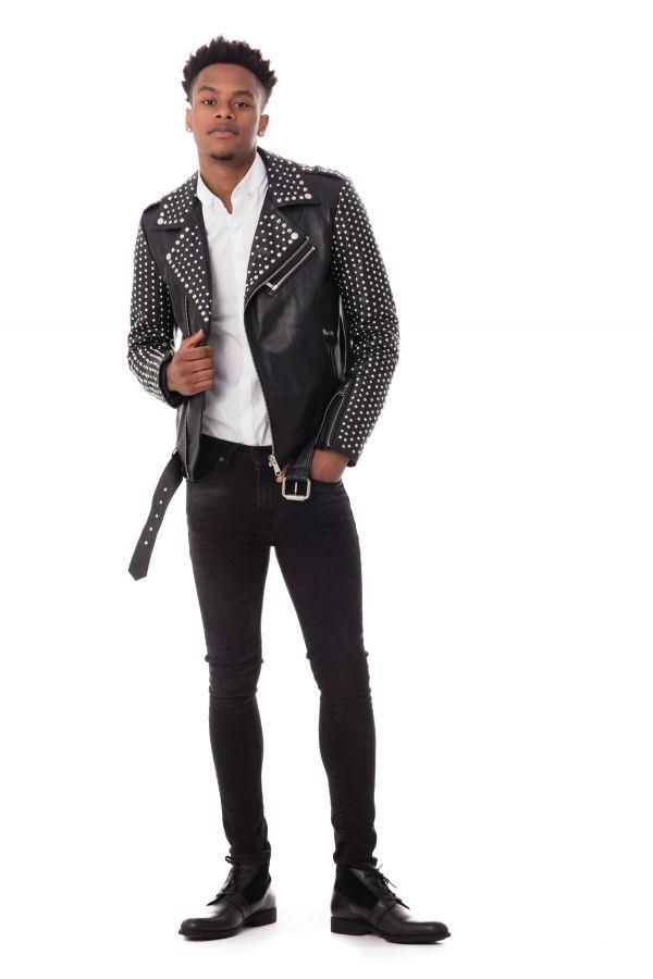 Blouson Homme LADC ROCKY BLACK STUD