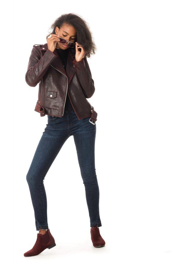 Blouson Femme LADC DIANE MYSTIK AUBERGINE