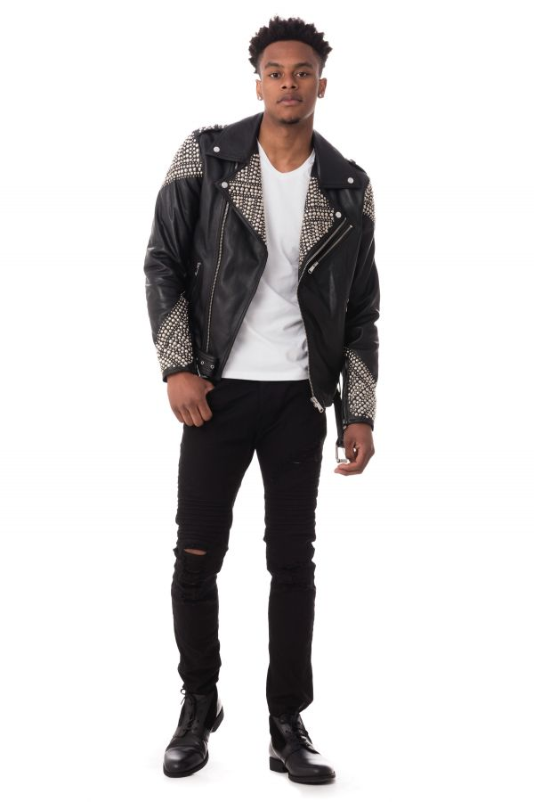 Blouson Homme Ladc ROCKY BLACK STUD VIP