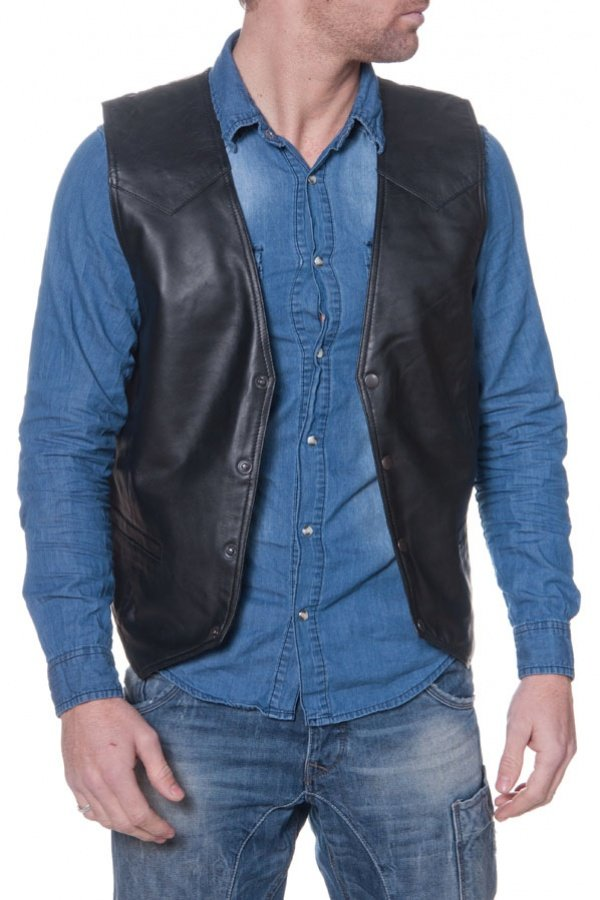 Gilet Homme Last Rebels GILET MAN 01 AG BLACK