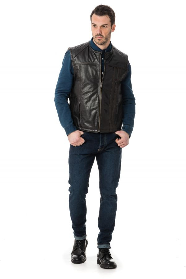 Blouson Homme Last Rebels GILET BOSTON MA B WW BW