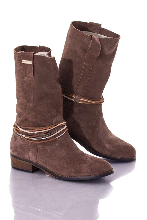 Boots / bottes Femme Les Tropéziennes par M Belarbi CAMERON TAUPE