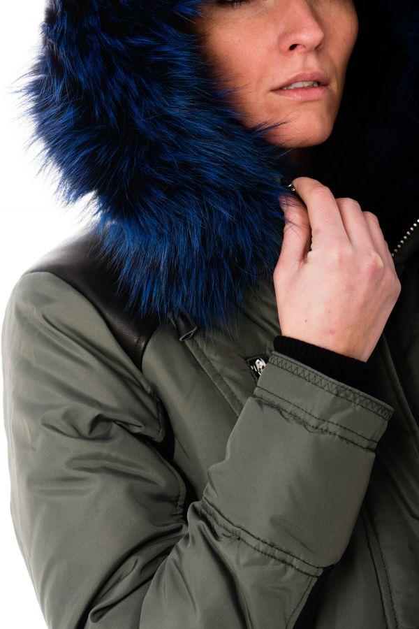 Blouson Femme Nicole Benisti CHELSEA MILITARY BLUE ZZ50