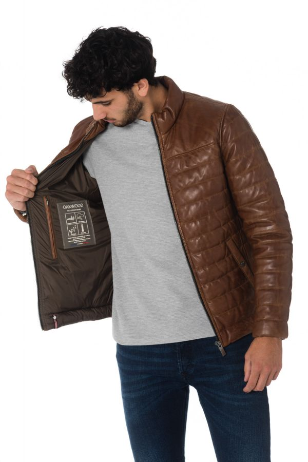 Blouson Homme Oakwood FOOTLOOSE COGNAC 507