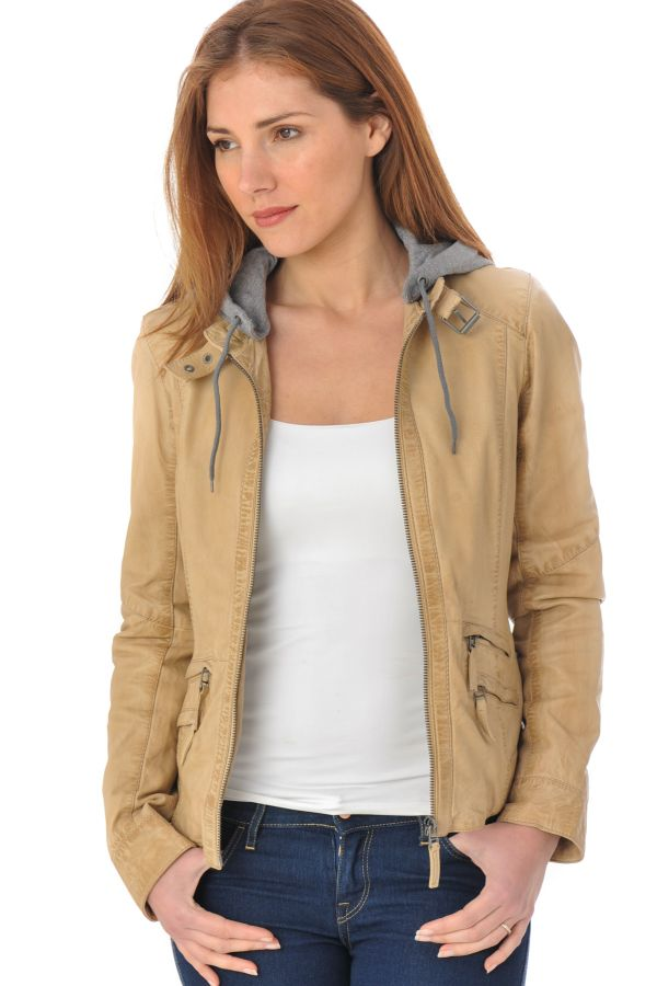 49eec232f595 Blouson Femme Oakwood SUNDAY NEW NUDE 573 - Cuir-city.com