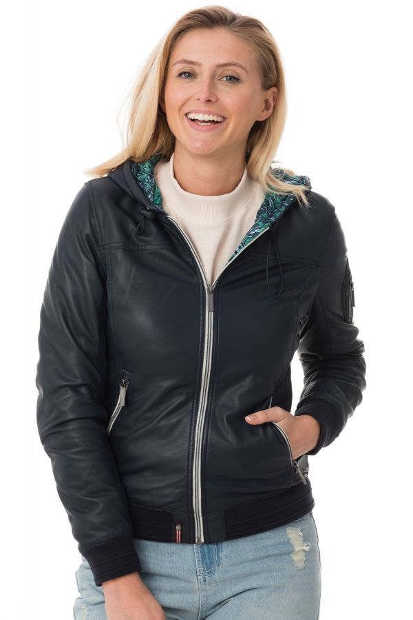 Blouson Femme Oakwood CARRIE TROPICAL BLEU MARINE 534