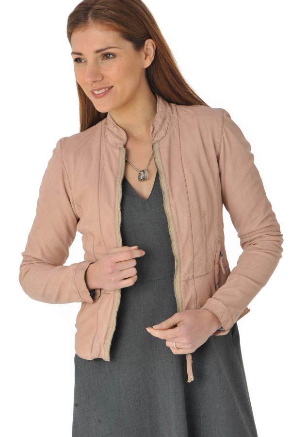 56b0c0ad5a1d Blouson Femme Oakwood RESORT NUDE 573 - Cuir-city.com