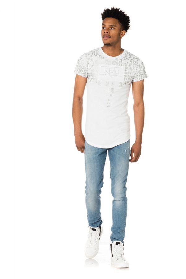 Tee Shirt Homme Paris Saint Germain D KYLIAN BLANC MBAPPE