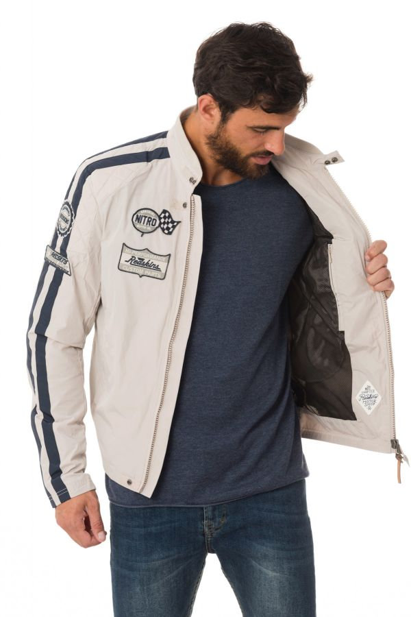 Blouson Homme Redskins RIPPER COBBLE CIMENT