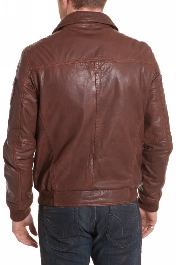 Blouson Homme Redskins DODGER HARLINGTON COGNAC