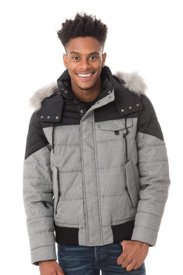 Blouson Homme Redskins FLAKE GREY/BLACK