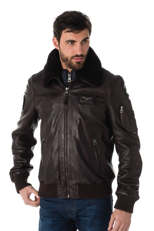 grossiste d2591 176c5 Blouson Homme Redskins RAFAL YCON BROWN