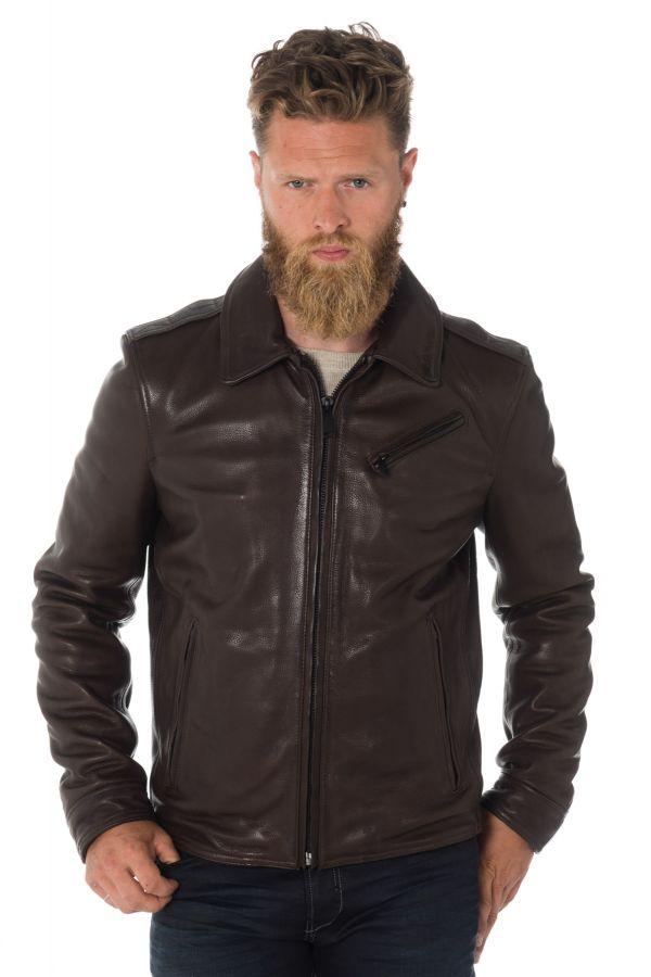 Veste homme cuir Redskins City Wear