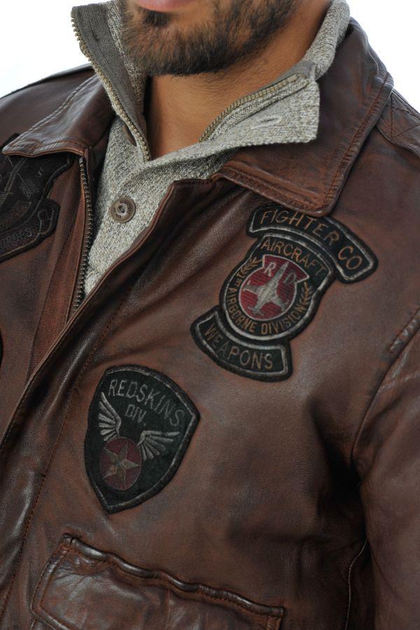 Blouson Homme Redskins PERRY LIVERPOOL COGNAC H16