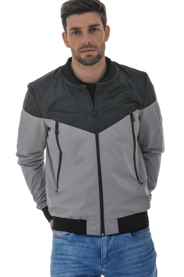 Blouson Homme Redskins CROSS VENEZUELA GREY BLACK P16