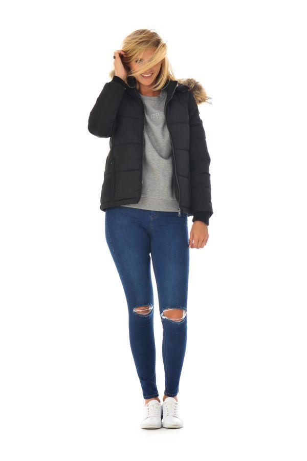Blouson Femme Redskins CLARYSSE CAMPBELL BLACK H16