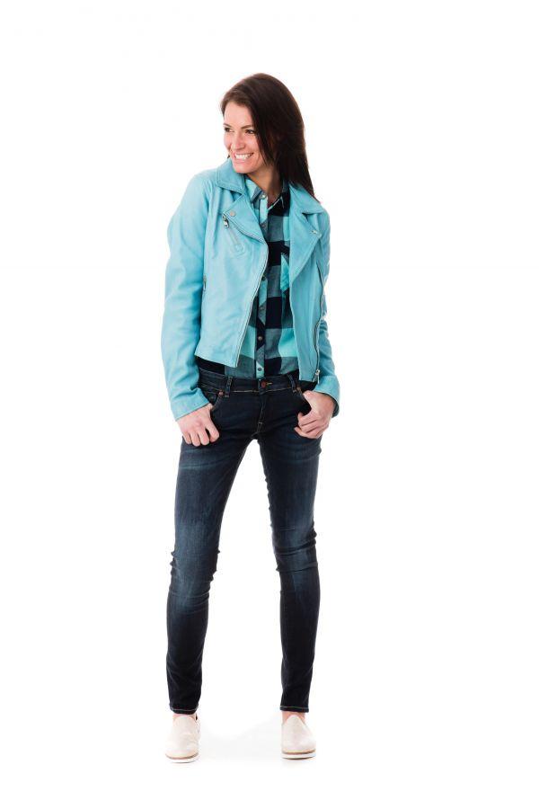 Blouson Turquoise Femme Cuir Rivoli Bridget Redskins rHw6qTp0H