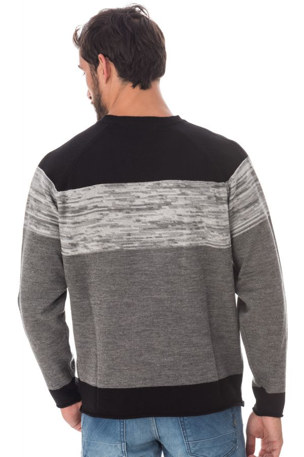 Pull/Sweatshirt Homme Redskins TITAN INITIAL GREY CHINE H16