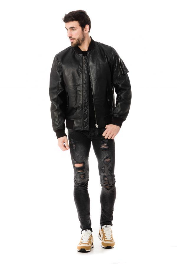Blouson Homme Schott LC206X BLACK