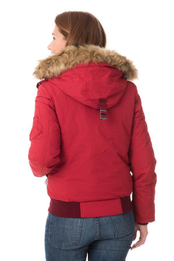 Blouson Femme Schott JKTDENISEWX DARK RED