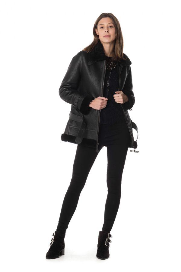 Veste Femme Schott LCW1257L BLACK