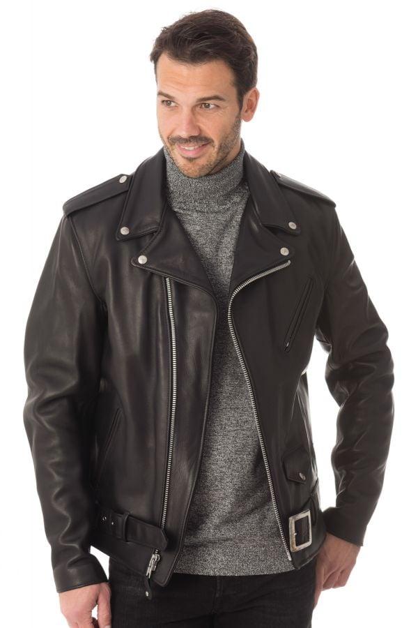 Blouson Homme Schott 118L BLACK