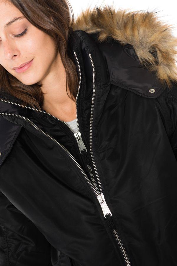 Blouson Femme Schott JKTMADDYW BLACK/BEIGE