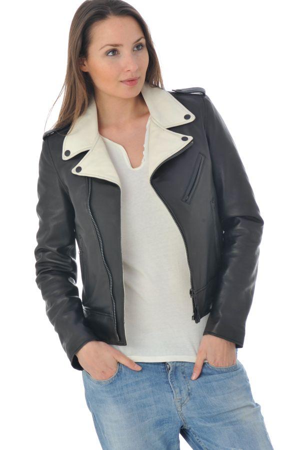 Blouson Femme Schott LCW1601D BLACK OFF WHITE