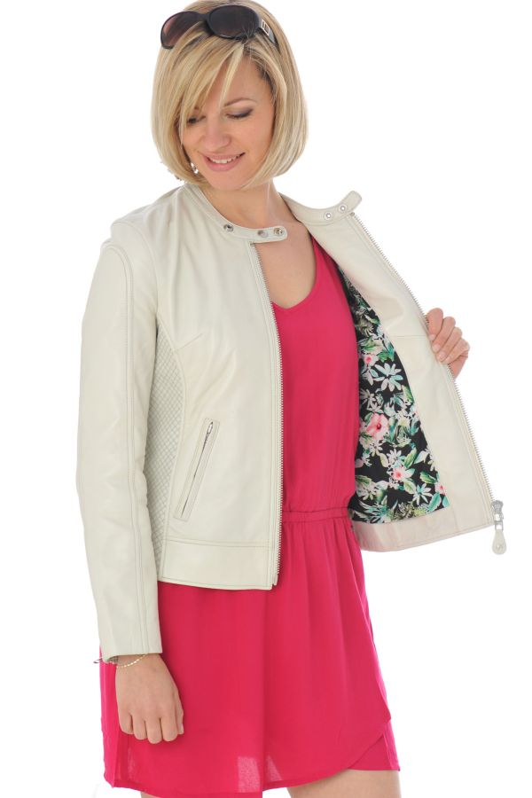 Blouson Femme Schott LCW8655B OFF WHITE