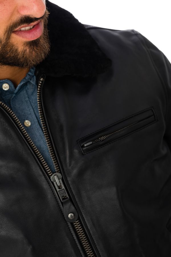 Blouson Homme Schott LC1380 BLACK