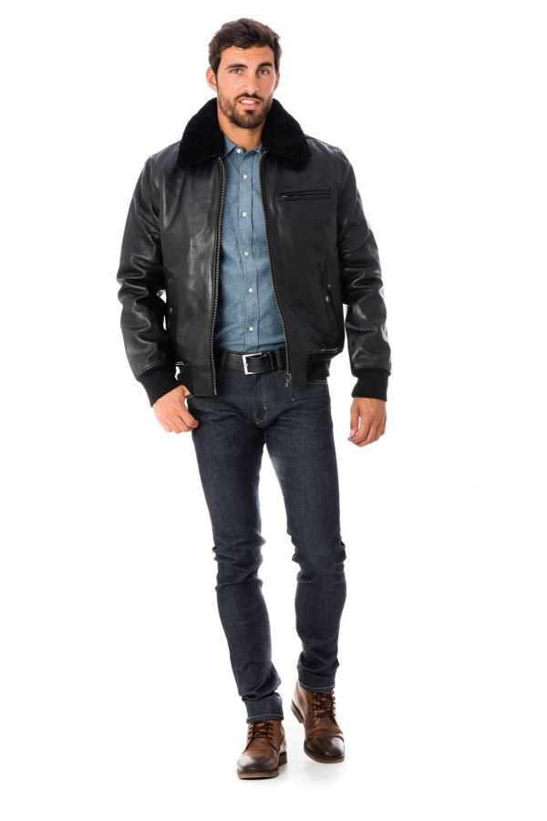Blouson Homme Schott LC1380 H16 BLACK