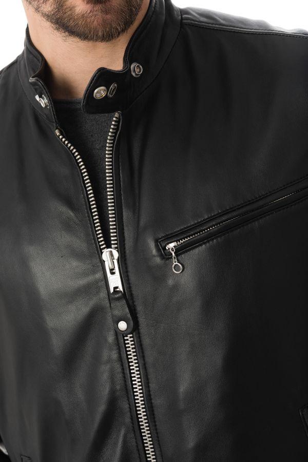 Blouson Homme Schott LC949D BLACK